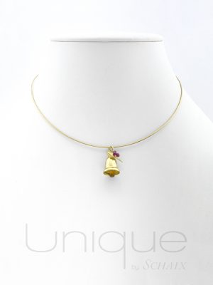collier cloche en or noël