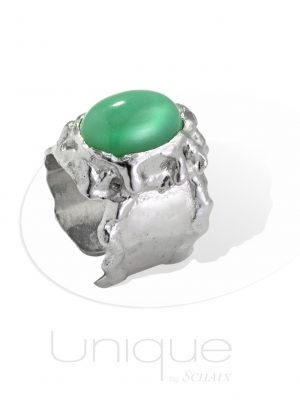 bijou-bijoux-bague-barbare-chrysoprase-cabochon-argent-fait-main-paris-france-creation-unique-pierres-precieuses