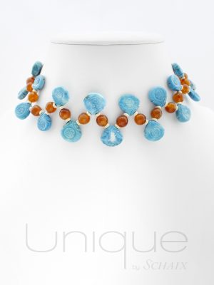 bijou-bijoux-collier-collection-ethnique-perles-howlite-gravees-boules-cornaline-argent-fait-main-paris-france-creation-unique-pierres-precieuses