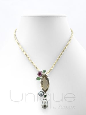 jewel-jewels-jewellery-hand-made-in-france-paris-unique-gift-idea-tressange-d-ete-collection-silver-necklace-pendant-silk-thread-quartz-garnet-tahiti-pearl-pearls-gems-gem-stones
