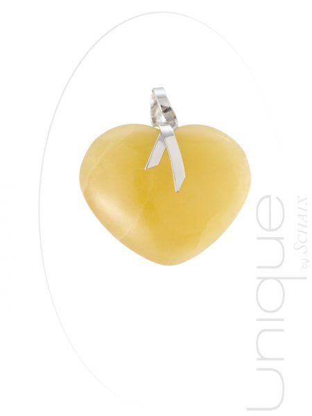 Jewel-jewels-jewellery-hand-made-in-france-pendant-silver-calcite-yellow-ribbon-unique-signed-heart-love-valentine-gift