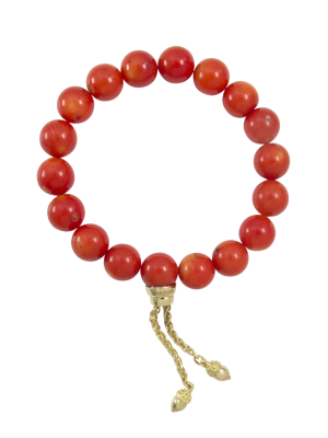 bracelet-zen-boule-corail-or-jaune-fait-main-piece-unique
