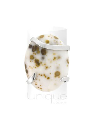 bague agate et argent unique - made in France