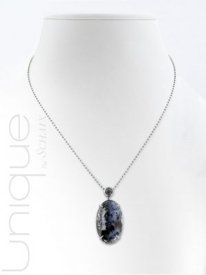 Necklace-dendritic-agate-labradorite-hand-made
