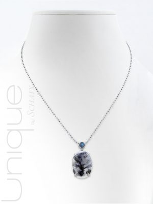 Necklace-dendritic-agate-labradorite-silver-hand-made